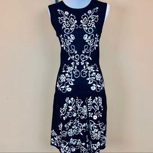 Cynthia Steffe floral vine knit dress